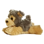 Cutie the Stuffed Yorkie Plush Mini Flopsie Dog By Aurora