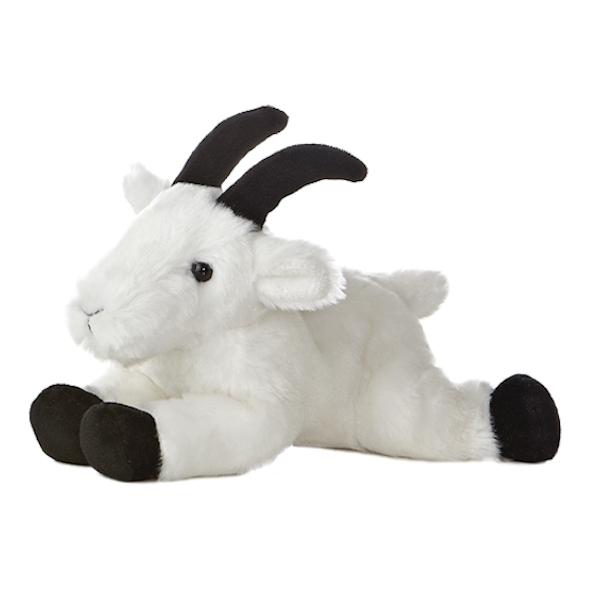 Little Stuffed Mountain Goat Mini Flopsie By Aurora Stuffed Safari
