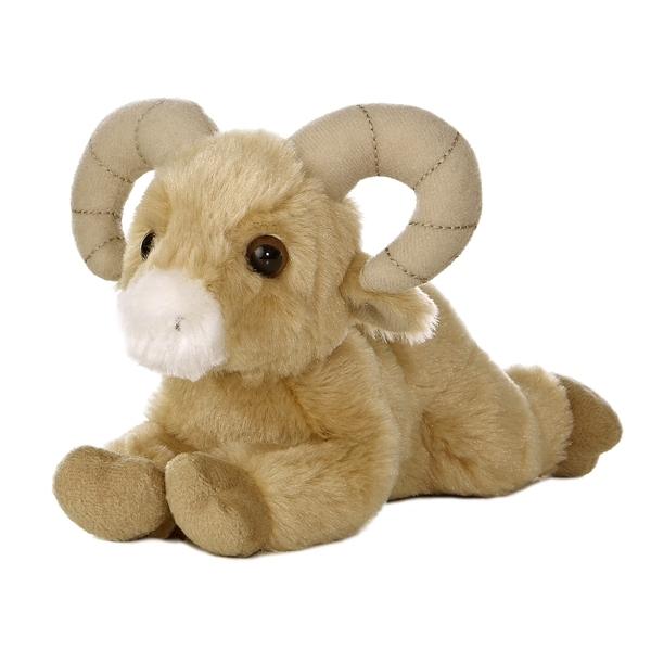 Little Stuffed Bighorn Sheep Mini Flopsie Aurora Stuffed Safari