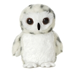 Little Powder the Stuffed Snowy Owl Mini Flopsie by Aurora