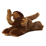 Little Sam the Stuffed Woolly Mammoth Mini Flopsie by Aurora