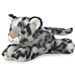 Little Chill the Stuffed Snow Leopard Mini Flopsie by Aurora