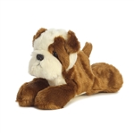 Little Semper Fi the Stuffed Bulldog Mini Flopsie by Aurora