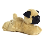 Little Pugster the Stuffed Pug Mini Flopsie by Aurora