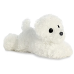Little Snowball the Stuffed Bichon Frise Mini Flopsie by Aurora