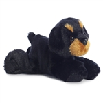 Little Raina the Stuffed Rottweiler Mini Flopsie by Aurora