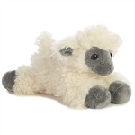 Little Suffolk the Stuffed Blackface Sheep Mini Flopsie by Aurora