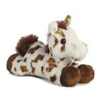 Little Gypsy the Stuffed Brown Spotted Horse Mini Flopsie by Aurora
