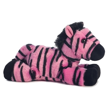 Little Fantasy the Stuffed Pink Zebra Mini Flopsie by Aurora