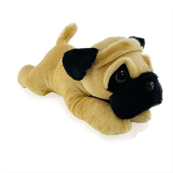 Plush Pug 12 Inch Flopsie Stuffed Dog Aurora Stuffed Safari