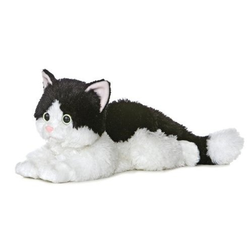 Oreo The Black And White Plush Cat 12 Inch Flopsie By Aurora At