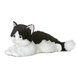 Oreo The Black and White Plush Cat 12 Inch Flopsie By Aurora