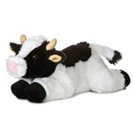 May Bell the Plush Holstein Cow 12 Inch Stuffed Flopsie By Aurora