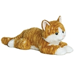 Chester the Stuffed Orange Tabby Cat by Aurora