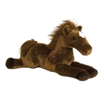 Outlaw The Stuffed Bay Horse Flopsie Plush Horse By Aurora
