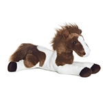 Tola the Stuffed 12 Inch Lying Plush Paint Horse by Aurora