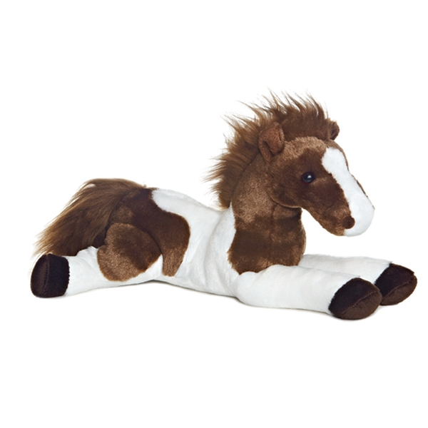 Tola The Stuffed 12 Inch Lying Plush Paint Horse By Aurora At