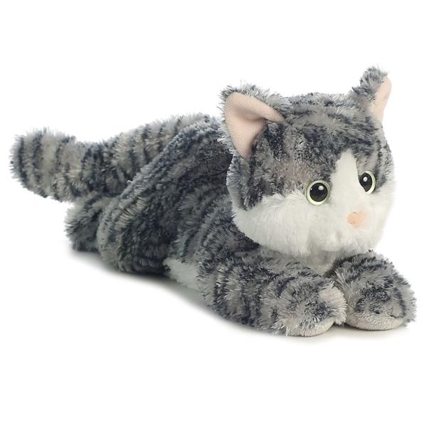 Lily The Stuffed Gray Tabby Cat Flopsie By Aurora At Stuffed Safari