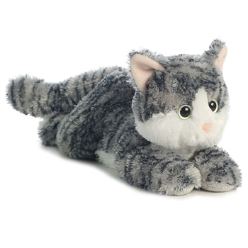 Lily the Stuffed Gray Tabby Cat Flopsie by Aurora