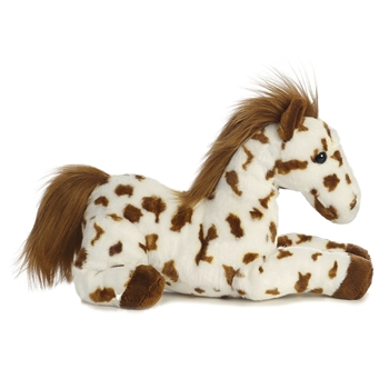 Scout the Stuffed Brown Spotted Horse Flopsie by Aurora