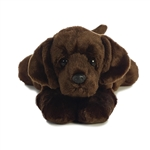 Max the Stuffed Chocolate Lab Flopsie by Aurora