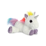 Rainbow the Stuffed White Unicorn Flopsie by Aurora