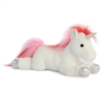 Swirl the Stuffed White Unicorn Flopsie by Aurora