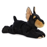 Duke the Stuffed Doberman Flopsie by Aurora