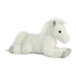 Edelweiss the Stuffed White Horse Flopsie by Aurora