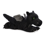 Midnight the Stuffed Black Dragon Flopsie by Aurora