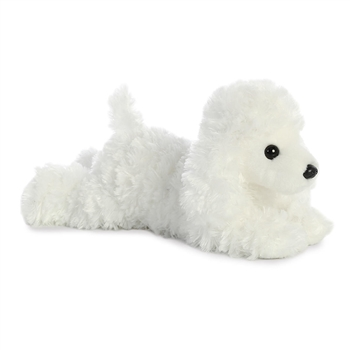 Spunky the Stuffed White Poodle Flopsie by Aurora