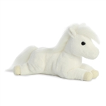Snowflake the Stuffed White Shetland Pony Flopsie by Aurora