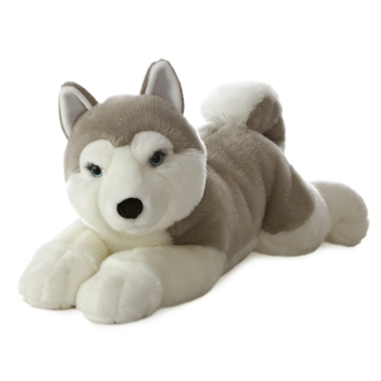 Yukon the Jumbo Stuffed Husky Super Flopsie by Aurora