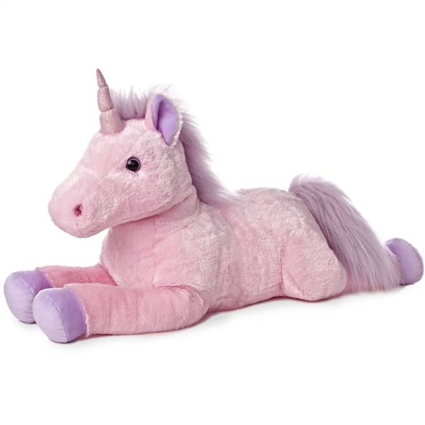 Jumbo Stuffed Pink Unicorn Super Flopsie Aurora Stuffed Safari