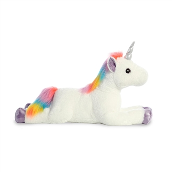 Big Rainbow the Jumbo Stuffed White Unicorn by Aurora