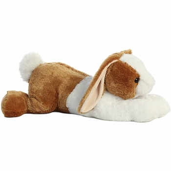 Jumbo Stuffed Brown and White Bunny Super Flopsie by Aurora