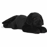 Jumbo Stuffed Black Lab Super Flopsie by Aurora
