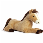 Jumbo Stuffed Brown and Tan Horse Super Flopsie Plush by Aurora