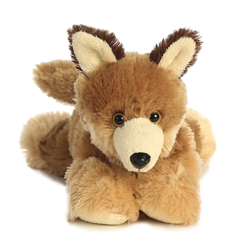 Little Clever the Stuffed Coyote Mini Flopsie by Aurora