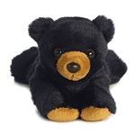 Little Claw the Stuffed Black Bear Mini Flopsie by Aurora