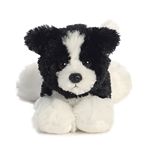 Little Cami the Stuffed Border Collie Mini Flopsie by Aurora