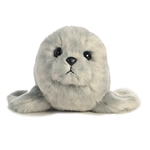 Little Blub the Stuffed Harbor Seal Mini Flopsie by Aurora