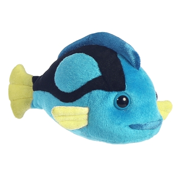Little Elmore the Stuffed Blue Tang Mini Flopsie by Aurora