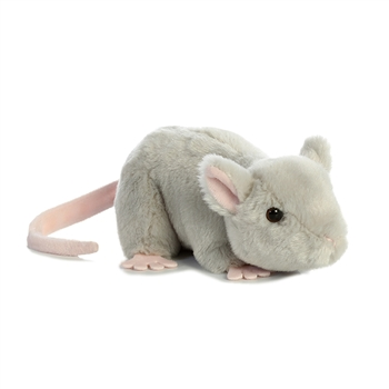 Little Cheddar the Stuffed Mouse Mini Flopsie by Aurora