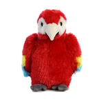 Little Flight the Stuffed Scarlet Macaw Mini Flopsie by Aurora