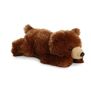 Little Gayle the Stuffed Grizzly Bear Mini Flopsie by Aurora