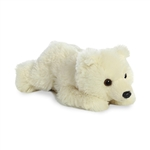 Little Freeze the Stuffed Polar Bear Mini Flopsie by Aurora