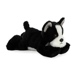 Little Manny the Stuffed Boston Terrier Mini Flopsie by Aurora