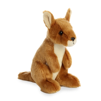 Little Sydney the Stuffed Kangaroo Mini Flopsie by Aurora