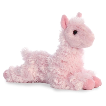 Little Loretta the Stuffed Pink Llama Mini Flopsie by Aurora